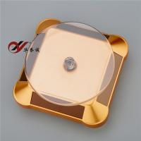 China Two Rotary Direction Solar Display Stand Square Shape Round Corner 100 * 100 * 40 mm wholesale