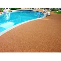 China Shock Proof Pool Rubber Flooring , Abrasive Resistant Swimming Pool Flooring Materials wholesale