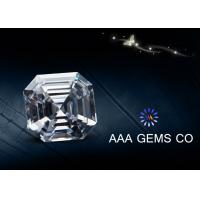 China Colorless Asscher Cutting Shape lab created moissanite 4.5 MM Diamone wholesale