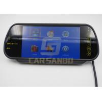 China High Definition 7 Car Rearview Mirror Monitors With Sd / FM Transmitter wholesale