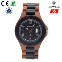 China Japan Movement Wooden Wrist Watch With Spring Buckle , Logo Customized wholesale
