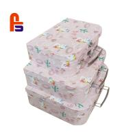 China Coated Paper Cardboard Suitcase Box CMYK Color With CE ISO BSCI Certification wholesale