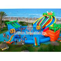 China Dinosaur Inflatable Water Slides Double Stitching Quadrupl Stithing  Reinforcement wholesale