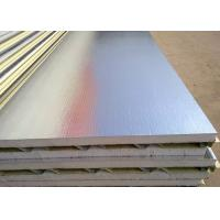 China Red / Ocean Blue Lightweight Water Resistant EPS Sandwich Wall Panel For Prefab House wholesale