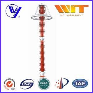 China 220KV Red Transmission Line Surge Arrester , Composite Polymer Lightning Arrestor wholesale