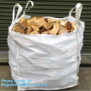 China pp big bulk woven polypropylene bags wholesale geotextile sand bag,pp woven jumbo big bag for wood chip/ 1ton 2 ton wood wholesale