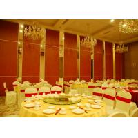 China Red Fabric Plywood Single / Double Door Folding Partition Walls  BUNGE Standards wholesale
