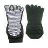 China Breathable Black 5 Toes Non-slip Sweat Absorbent Socks For Yoga Non-slip Socks For Men wholesale