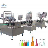 China 1000 Bottles Per Hour Carbonated Drink Filling Machine Self Oil Lubrication Device wholesale