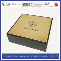 China Golden Surface Rigid Gift Boxes Handmade Packaging Boxes Customized Design wholesale