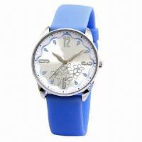 China Silicone Wristwatch with Alloy Case and Silicone Strap, 3ATM Waterproof, Top Quality wholesale
