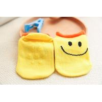 China Soft touch jacquard cartoon design non slip newborn baby grips cotton socks wholesale