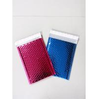 China padded mailer metallic foil bubble bag full color printing wholesale