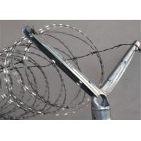 China 2-1/2''O.D Post 1-5/8'' Barbed Wire Extension Arm For Chain Link Fence Rail Top Use wholesale