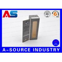 China E Liquids Steroids Pharmaceutical Packaging Box With Window / Metalic Display Paper on sale