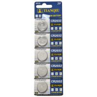 China Tianqiu CR2032 Lithium Button Cell Battery on sale