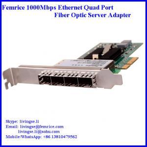 China 1000Mbps Quad Port SFP Slot PCI Express x4 Server Network Cards (Intel 82580 Chipset) wholesale