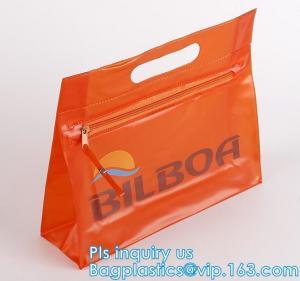 China vinyl a3 / a4 / a5 plastic pvc mesh zipper bag, Eco-friendly Slider Zipper Flat Plastic Bag For Document or Swimwear, zi wholesale