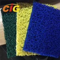 China Looping Yarn Solid Color 100% PVC Flooring Carpet By Rolls / Pieces 11mm Thick wholesale
