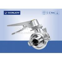 China Pneumatic SS316L 2 WAY Sanitary Ball Valve with Multi Stainless Steel Handle wholesale
