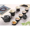 China Custom Black Color Ceramic Mugs Ceramic Tea Set For Family Party / Tea Shop wholesale
