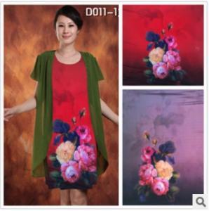China Skirt fabric Knitted silk snow Silk High elastic fabric digital printing Product parameter wholesale