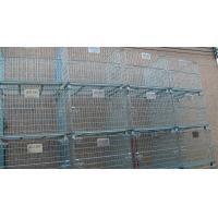 China Stacking 4 Tier Wire Mesh Containers Collapsible Wire Cage Without Rack System wholesale