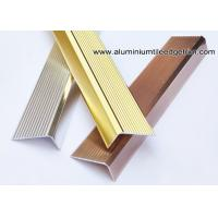 China Anti Slippery Aluminum Stair Nosing / Edging / Brace With 45mm X 20 mm wholesale
