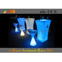 Polyethylene LED Lighting Furniture / Cocktail table for party & exhibition Manufactures