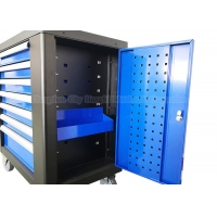 China 770mm 7 drawer 30 Inch Middle Blue Rolling Tool Chest Cabinet Toolbox on wheels wholesale