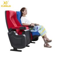 China Geniune Leather High Density Molded Foam Movie Theater Seats With Cup Holder wholesale