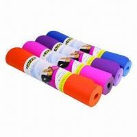 China Yoga/Pilates Products TPE Yoga Mat, Various Colors are Available wholesale