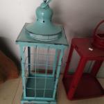 China Metal fashional cheap antique white vintage aged  metal lantern metal garden spring decoration  lantern wholesale