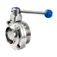 China Sanitary stainless steel 304 316L butterfly valves With Thread And Weld Connection wholesale