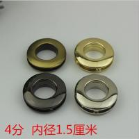 China Factory manufacturing multi color zinc alloy handbag 15 mm metal round eyelets with screws wholesale
