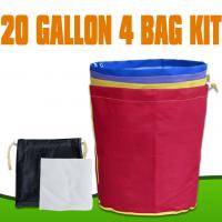 China 600D Nylon Extraction Filter 20 Gallon 4 Bag Bubble Hash Bags For Greenhouse wholesale