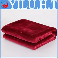 China baby design style of printed bright red wine color 100% polyester soft coral fleece blankets wholesale