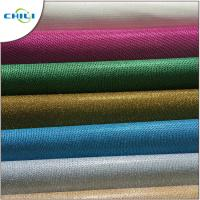 China Genuine Glitter Leather Fabric , Glitter Cotton Fabric For Handbags 1mm Thick wholesale