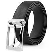 China Factory Custom Black Synthetic Artificial Vegan Leather Belt for Boys wholesale