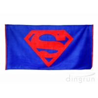 China Plain Style 100 Cotton Beach Towels Long Lasting Cooling Feel Customized Color wholesale
