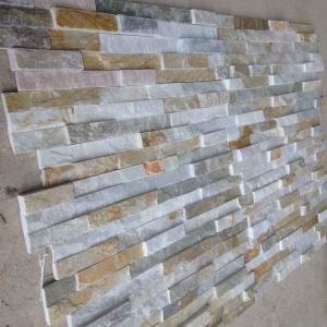 China Oyster Split Face Slate Stone Cladding Natural Ledgestone Oyster Thin Stone Veneer for Wall Decor wholesale