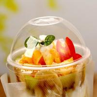Quality 90mm Biodegradable And Compostable Tableware Pet Dome Lids For Plastic Cups for sale