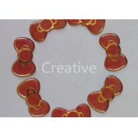 China Bright Gold Glitter Resin Domed Labels Epoxy Dome Stickers Butterfly Shape wholesale