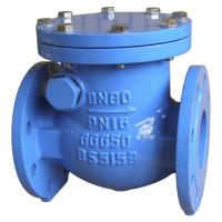 China Blue Grey BS 5163 Ductile Iron Check Valve Swing Type Check Valve on sale