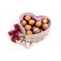 China Heart Shape Chocolate  Recycled Cardboard Gift Boxes , OEM wholesale