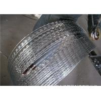 China Rusty  Concertina Stainless Steel Security Barbed Wire  Ribbon   , CBT-65 Razor Barbed Tape on sale