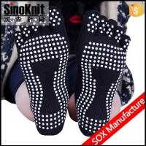 China Adult Anti Slip Custom Athletic Sock Non Slip Yoga Woman Sock on sale