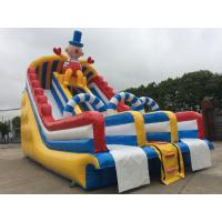 China Outdoor Commercial Inflatable Water Slides Fire Retardant Anti - UV PVC Tarpaulin wholesale