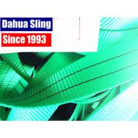China 2 Ton Green Polyester Sling Webbing For Heavy Duty Lifting 100ft / roll wholesale