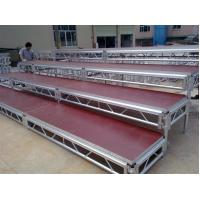 China Lightweight Movable Aluminum Portable Staging Systems Safety With Wheels wholesale